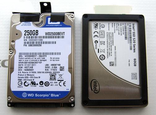 Image: NEC Lavie Light BL350/FWのHDDをSSDに交換