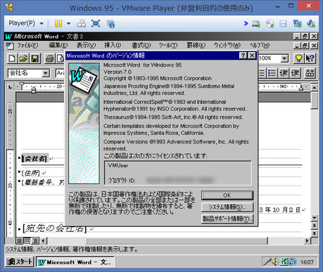 Image: Microsoft Word for Windows 95