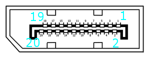 Display Port connector pinout