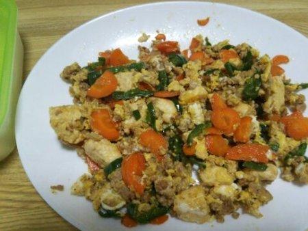 Image: 140905 豆腐と豚挽き肉の卵とじ [cook]