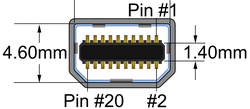 Mini DisplayPort connector pinout