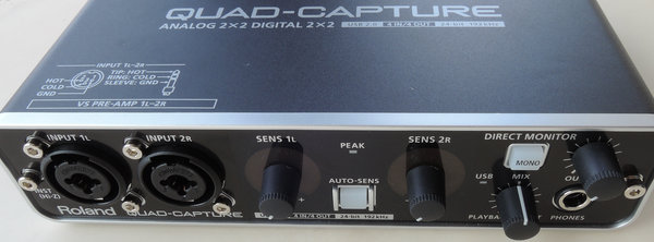 Image: Roland QUAD-CAPTURE USBオーディオインターフェイス