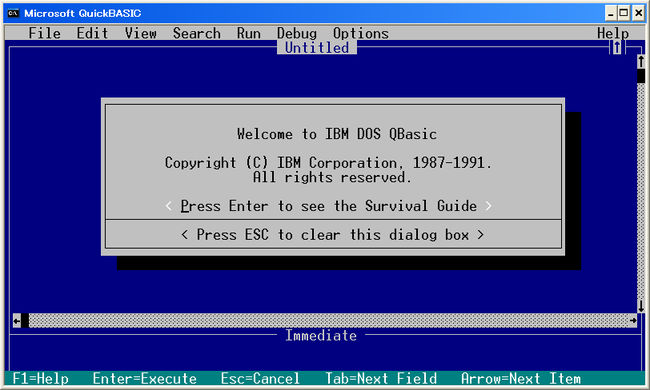 IBM DOS QBASIC