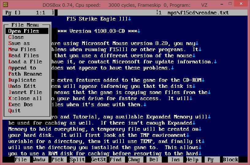 Image: overlay - DOSBox 0.74 VZ