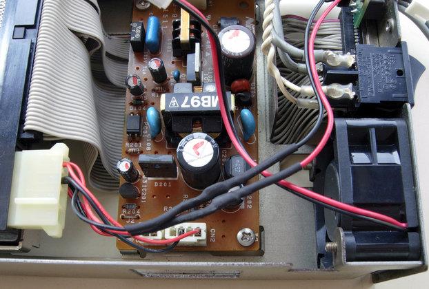 Image: Logitec LMO-640Fの廃熱ファンを交換